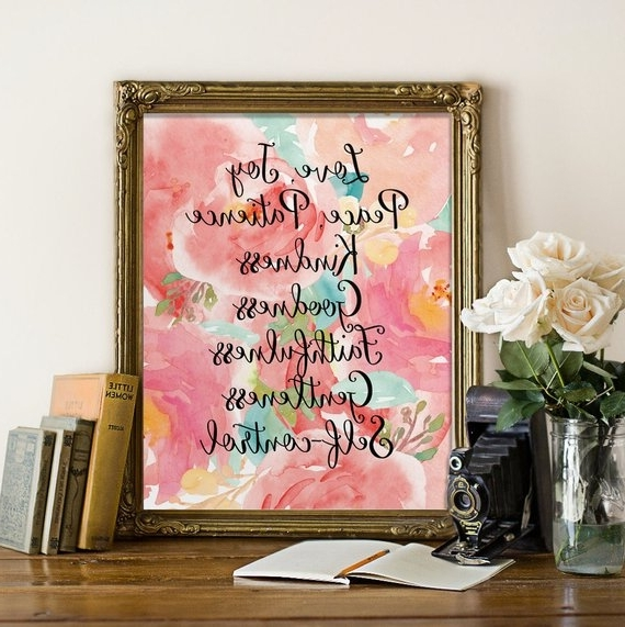 Etsy with regard to Fruit Of The Spirit Wall Art