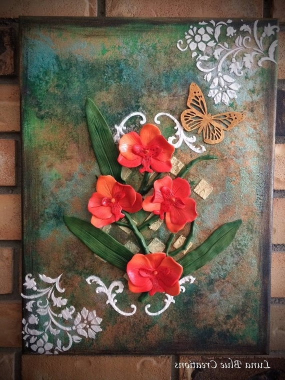 Etsy With Regard To Popular Polymer Clay Wall Art (View 9 of 15)