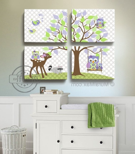 Etsy With Well Liked Canvas Prints For Baby Nursery (View 15 of 15)