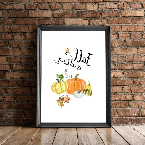 Etsy Within Autumn  Inspired Wall Art (View 10 of 15)