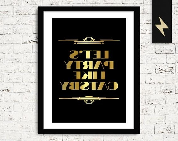 Etsy Within Great Gatsby Wall Art (View 9 of 15)