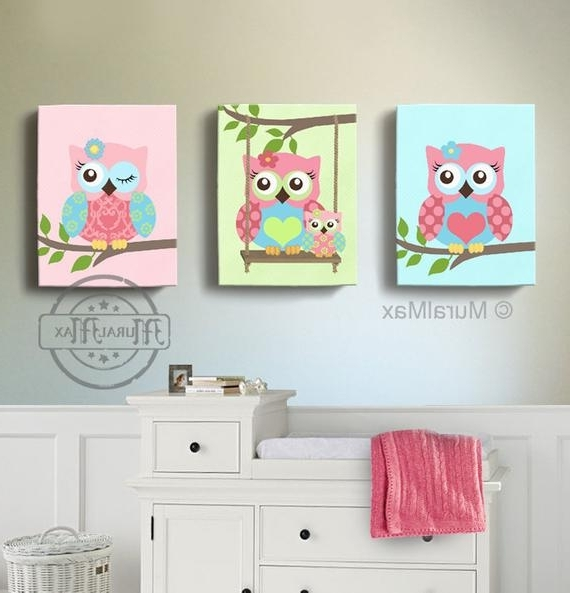 Etsy Within Latest Nursery Canvas Art (Gallery 7 of 15)