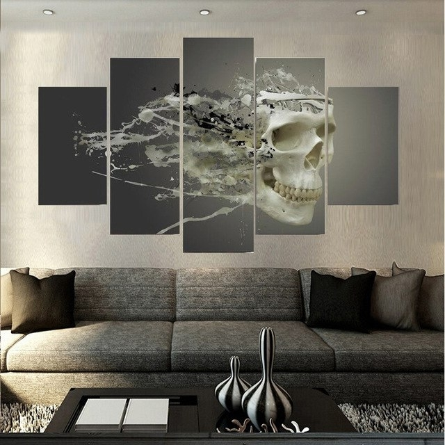 Exclusive Wall Art Inside Most Recent Exclusive Design New Style Crossbones Canvas Painting Unframed Home (View 14 of 15)