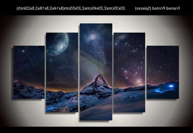Exotic Wall Art Throughout Trendy Exotic Northern Lights Wall Arts For Home Decoration Realist (View 7 of 15)