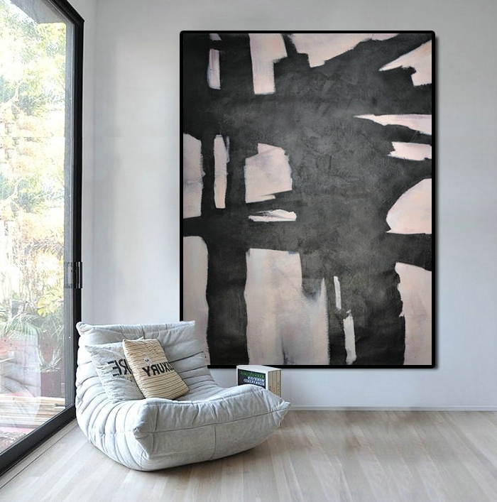 Extra Large Abstract Wall Art inside Fashionable Extra Large Abstract Painting, Horizontal Acrylic Painting Large