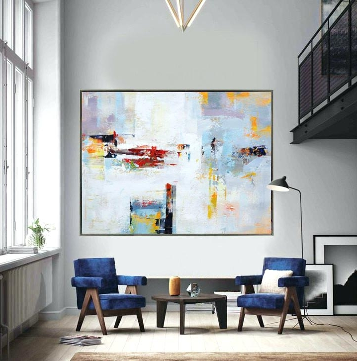 Extra Large Canvas Abstract Wall Art In Most Up To Date Huge Abstract Wall Art Extra Large Contemporary Painting Huge (View 5 of 15)