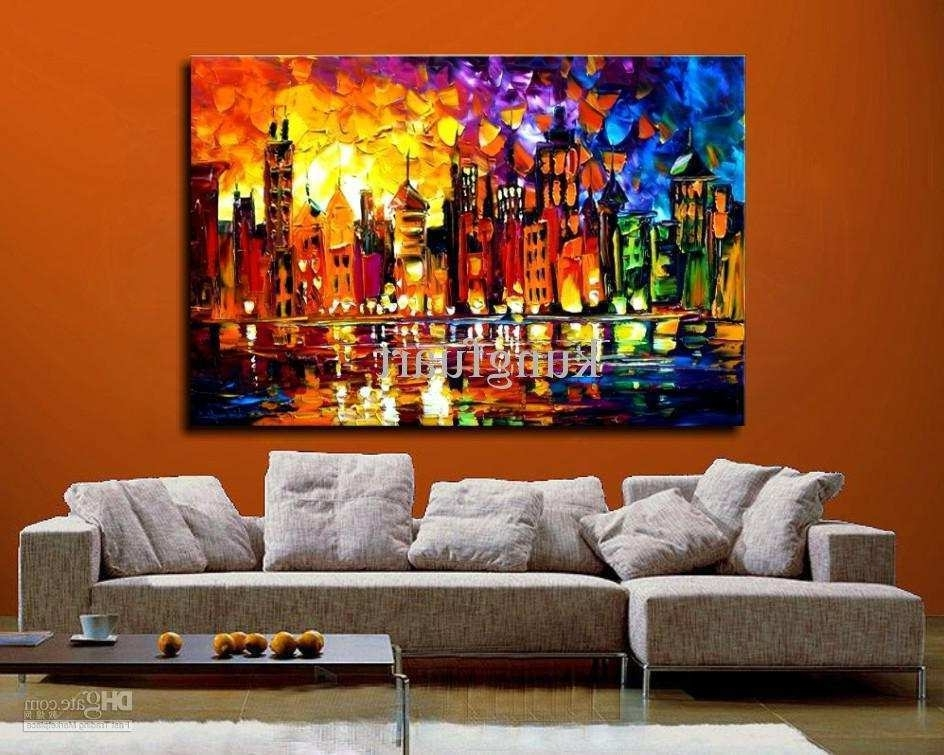 Extra Large Canvas Abstract Wall Art In Recent Big Painting Canvas Fresh Wall Art Zoom Wall Art Orange Modern World (Gallery 10 of 15)