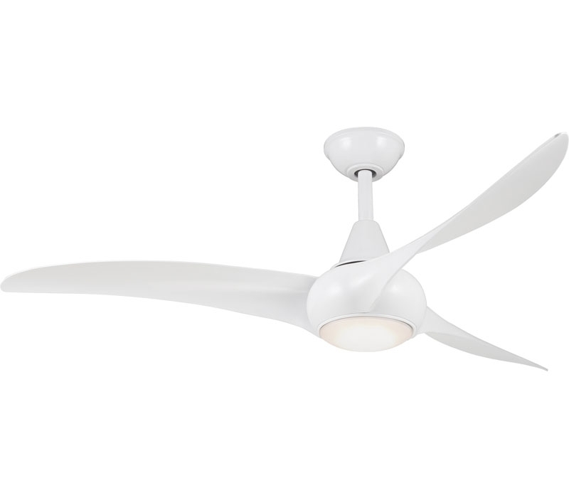 F844 Wh Pertaining To Minka Aire Outdoor Ceiling Fans With Lights (View 3 of 15)