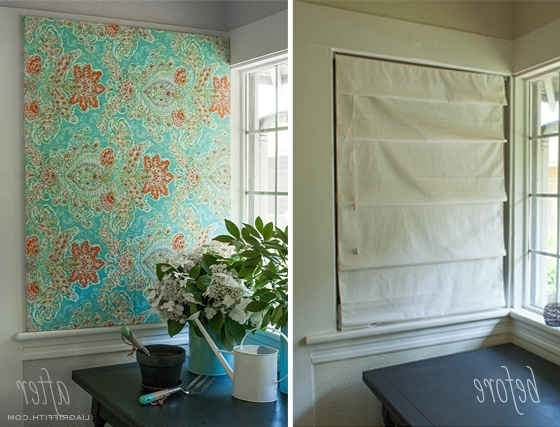 Fabric Canvas Wall Art In Well Liked Make Easy Diy Art With A Canvas Stretcher Frame And Pretty Fabric (View 4 of 15)