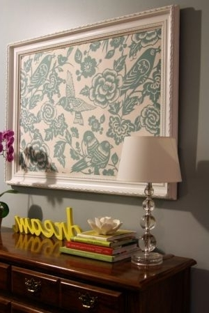 Fabric Wall Art, Framed Or Notlove! Use Words In House To For Famous Framed Fabric Wall Art (View 11 of 15)