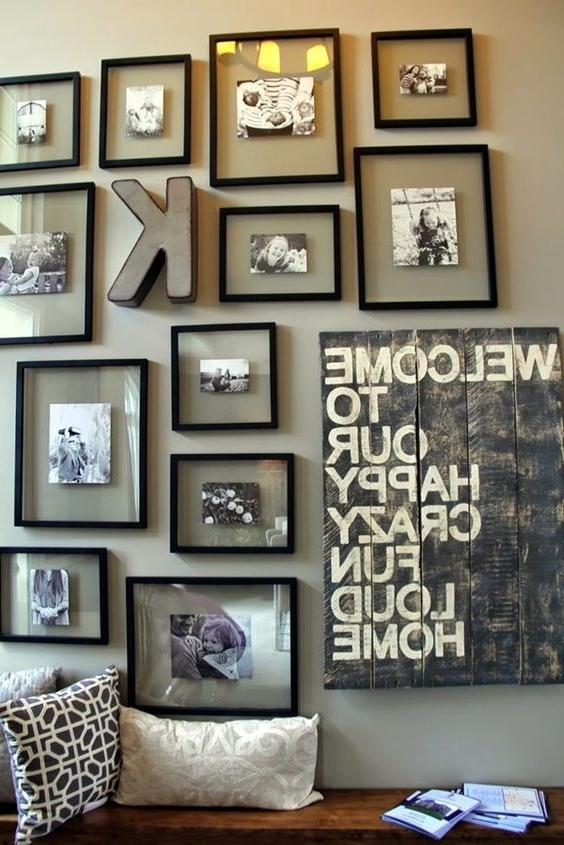 Family Photo Wall Art Regarding Most Popular 40 Best Family Picture Wall Decoration Ideas (View 14 of 15)