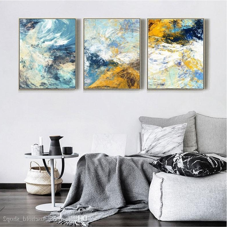 Famous 2018 2018 Abstract Canvas Wall Paintings For Living Room Kitchen With Framed Abstract Wall Art (View 15 of 15)