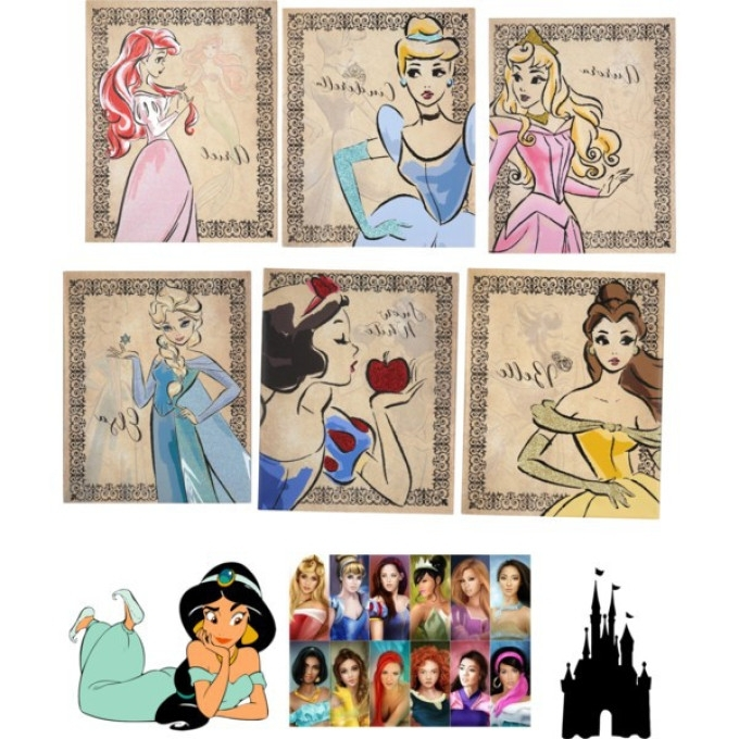 Famous 4 Princess Canvas Wall Art, Princess Dress Wall Art In Pink And Throughout Princess Canvas Wall Art (View 3 of 15)