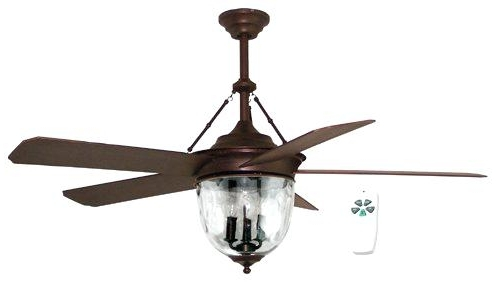 Featured Photo of Bronze Outdoor Ceiling Fans With Light