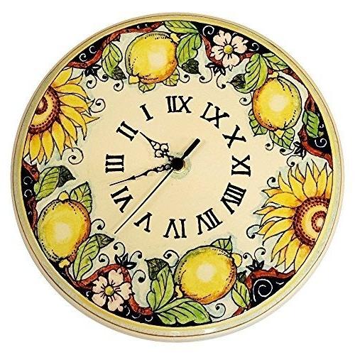 Famous  ^) Handmade Home Décor Ceramiche D'arte Parrini – Italian Ceramic For Italian Ceramic Wall Clock Decors (View 3 of 15)