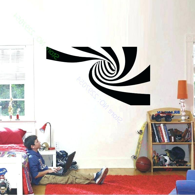 Famous Abstract Art Wall Decal Within Nfl Home Decor Wall Decals New 2 Different Designs Abstract Vinyl (View 11 of 15)