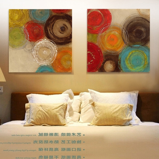 Famous Abstract Circle Canvas Wall Art Compare Prices On, Abstract Circle S Intended For Abstract Circles Wall Art (View 11 of 15)