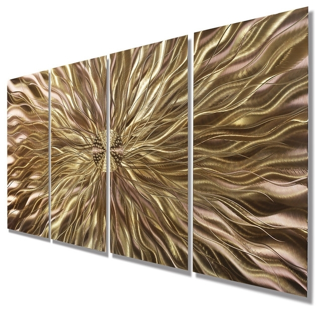 Famous Abstract Copper Wall Art With Regard To Copper Static Metal Wall Art Paintingjon Allen – Contemporary (View 9 of 15)