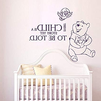 Famous Amazon: Wall Decals Quotes Winnie The Pooh Every Child Is A With Regard To Winnie The Pooh Nursery Quotes Wall Art (View 6 of 15)