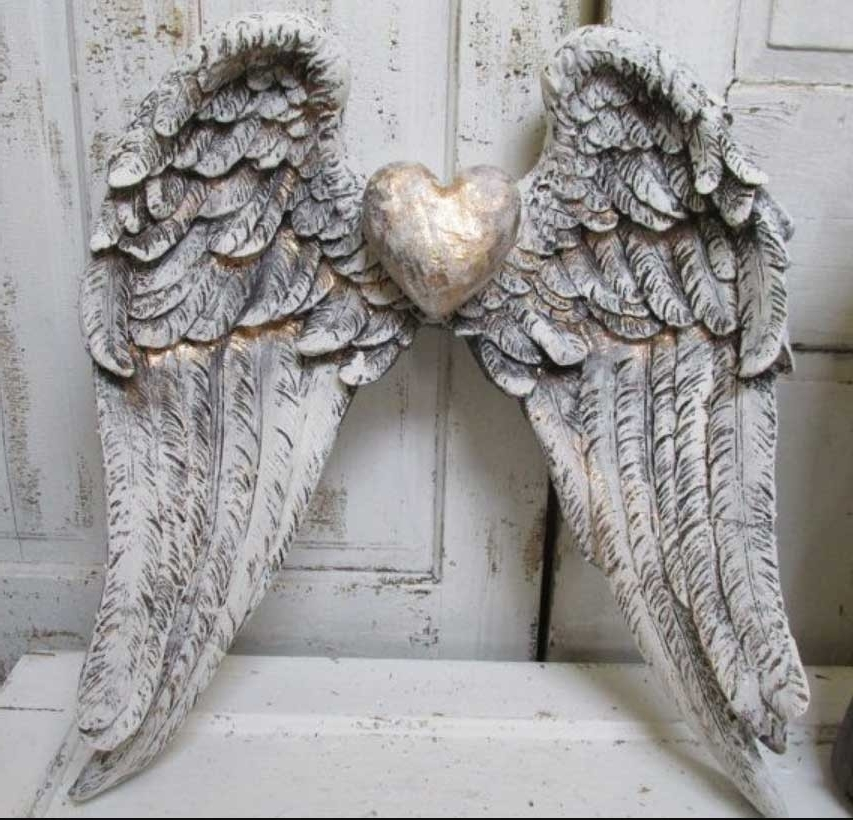 Famous Angel Wings Sculpture Plaque Wall Art throughout Angel Wings Wall Art Sculpture Plaque Home Interior Exterior