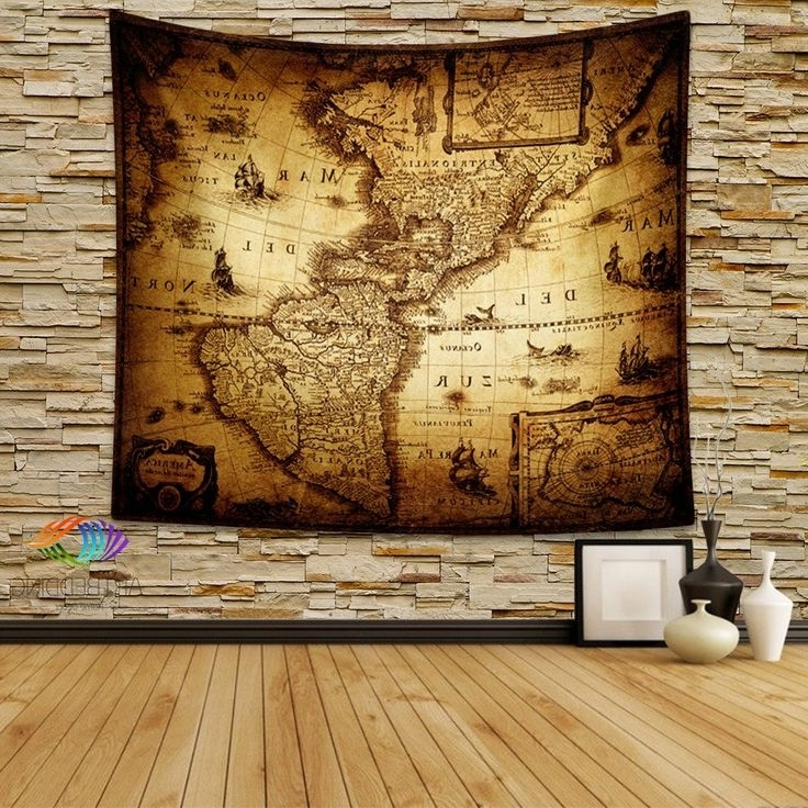 Famous Antique Map Of Eastern Europe (1841) Wall Tapestry, Vintage Interior With Antique Map Wall Art (View 7 of 15)