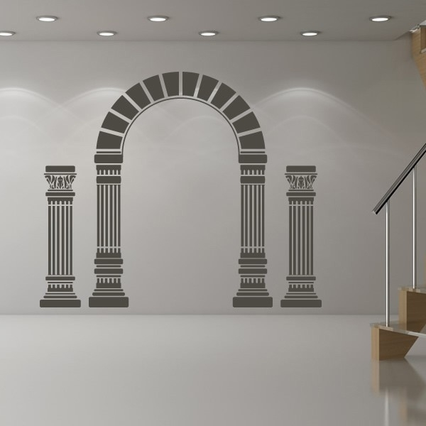 Famous Arch And Columns Wall Sticker Greek Wall Art Intended For Greek Wall Art (View 3 of 15)
