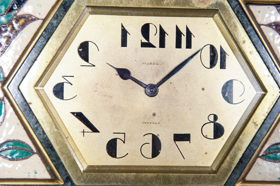 Famous Art Deco Wall Clocks Regarding Very Unusual And Decorative Art Deco Wall Clock Circa 1920, Signed (View 8 of 15)
