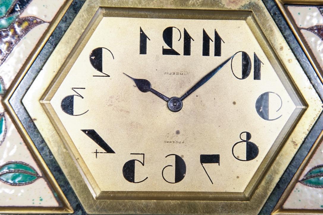 Famous Art Deco Wall Clocks Regarding Very Unusual And Decorative Art Deco Wall Clock Circa 1920, Signed (View 12 of 15)