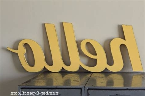 Featured Photo of Wooden Words Wall Art