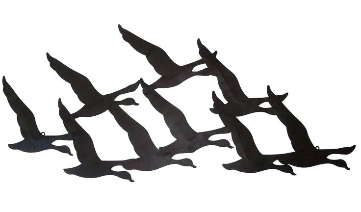 Famous Birds In Flight Metal Wall Art With Regard To Wall Art Ideas Design Huge Large Metal Wall Art Birds In Flight (View 11 of 15)
