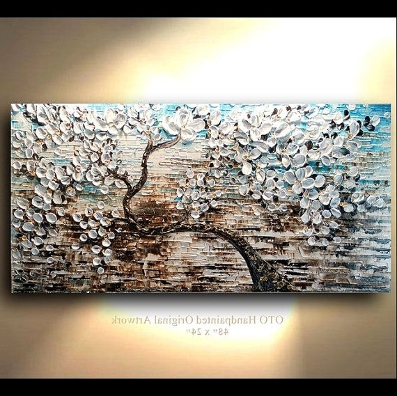 Famous Blue And Brown Canvas Wall Art Shop Abstract Paintings, Blue And For Blue And Brown Abstract Wall Art (View 2 of 15)