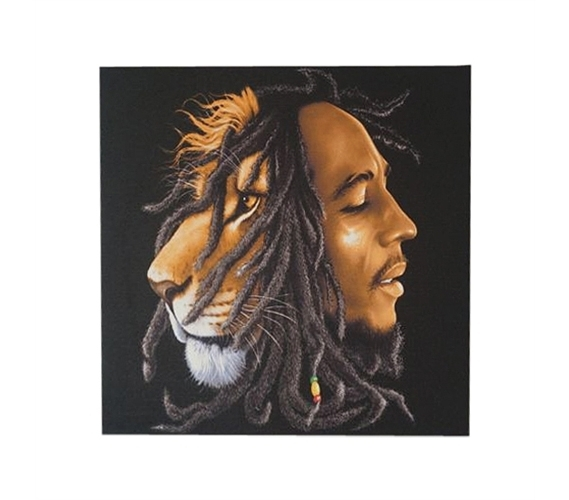 Famous Bob Marley Canvas Wall Art Within Bob Marley Lion Wall Canvas (View 8 of 15)