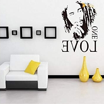 Famous Bob Marley Wall Art Regarding Amazon: Mzy Llc (Tm) Bob Marley One Love Vinyl Art Mural Wall (View 5 of 15)