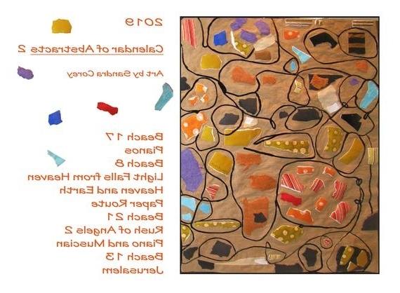 Famous Calendar 2019 Abstracts 2 Art Wall Calendar All New Art (View 6 of 15)