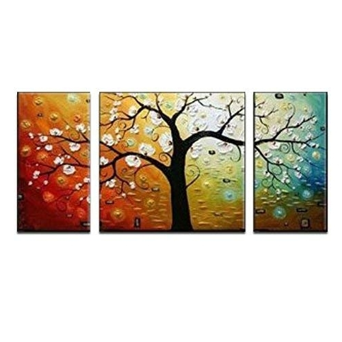 Famous Canvas Art Sets: Amazon Regarding Canvas Wall Art 3 Piece Sets (View 5 of 15)