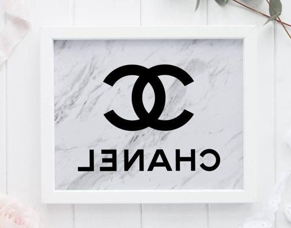 Famous Chanel Wall Decor Inside Marble Coco Chanel, Tumblr Room Decor, Chanel Wall Art, Marble (View 10 of 15)