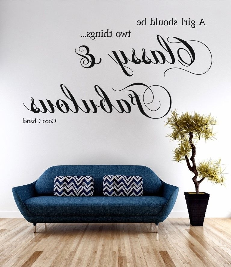 Famous Classy & Fabulous Coco Chanel Wall Art Sticker Quote Decal Vinyl With Coco Chanel Wall Stickers (View 9 of 15)