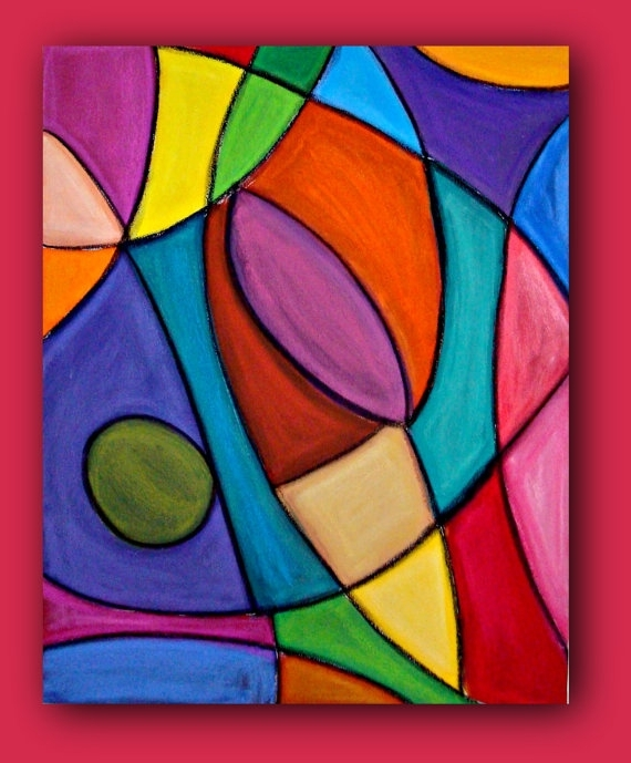 Famous Colorful Abstract Wall Art Bright Colorful Original Abstract With Bright Abstract Wall Art (View 5 of 15)
