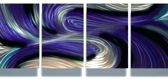 Famous Dark Purple Wall Art Purple Metal Wall Decor Classy Ideas Purple Pertaining To Dark Purple Abstract Wall Art (View 13 of 15)