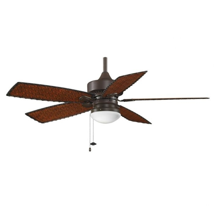 "Famous Fanimation 52"" Cancun Outdoor Ceiling Fan In Bronze W/woven Bamboo Within Outdoor Ceiling Fans With Bamboo Blades (View 4 of 15)"