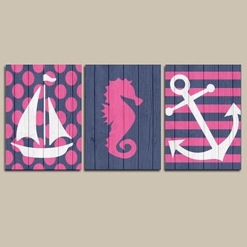 Famous Girl Nautical Canvas Or Prints Wall Art From Trm Design (View 7 of 15)