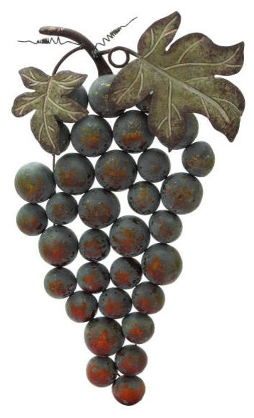Famous Grape Wall Art Within Wall Art Ideas Design : Cluster Grape Wall Art Simple Nice Themes (View 3 of 15)