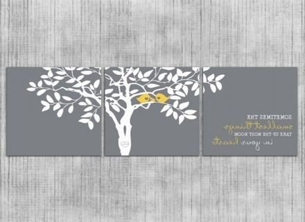 Famous Gray And Yellow Wall Art Pertaining To 35 Gray And Yellow Wall Art, Yellow And Grey Bathroom Wall Decor (View 7 of 15)