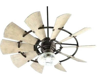 Famous High End Outdoor Ceiling Fans Throughout Outdoor Ceiling Fan Romantic Rustic Fans At Windmill Shades Of Light (View 7 of 15)