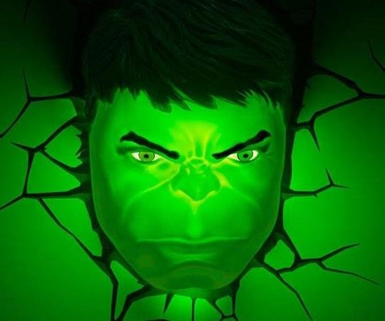 Famous Hulk Hand 3D Wall Art For The Hulk 3D Wall Light (View 11 of 15)