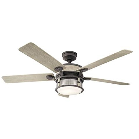 """Famous Kichler 310170 60"""" Ahrendale 5 Blade Indoor / Outdoor Ceiling Fan Regarding Outdoor Ceiling Fans At Kichler (View 4 of 15)"""