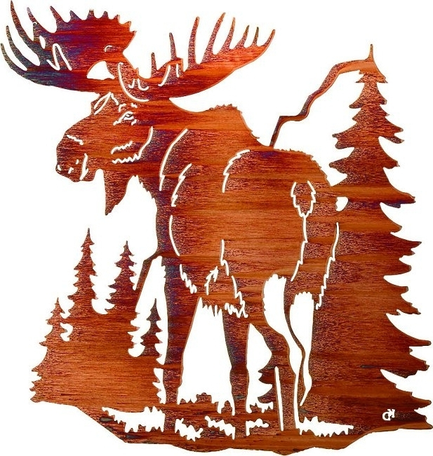 Famous Lazart Metal Art For Lazart Wilderness Wildlife Lodge Art (View 2 of 15)