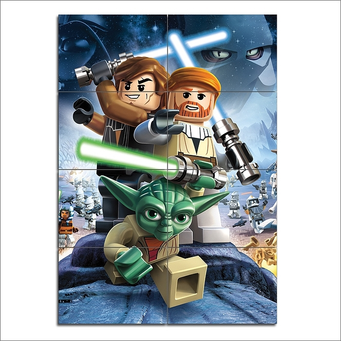 Famous Lego Star Wars Iii The Clone Wars Game Giant Wall Art Poster Inside Lego Star Wars Wall Art (View 4 of 15)