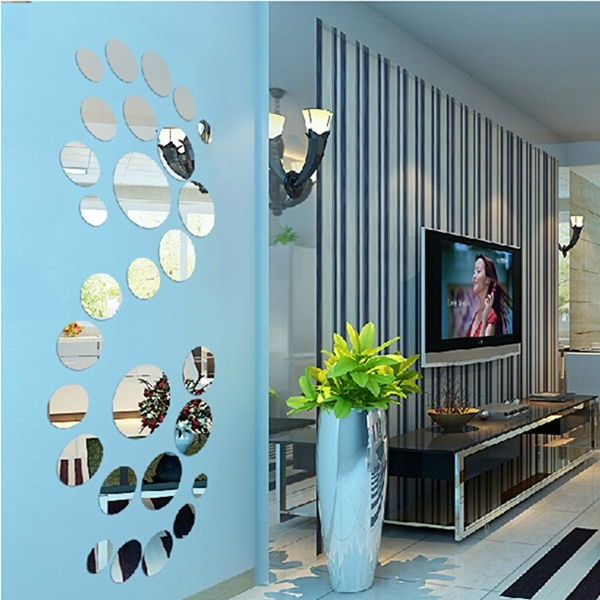 Famous Mirrored Circles Wall Decor Contemporary : Mirrored Circles Wall Regarding Mirror Circles Wall Art (View 14 of 15)