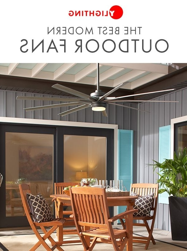 Famous Modern Outdoor Ceiling Fans For Browse Our Assortment Of Modern Outdoor Ceiling Fans That Combine (View 5 of 15)